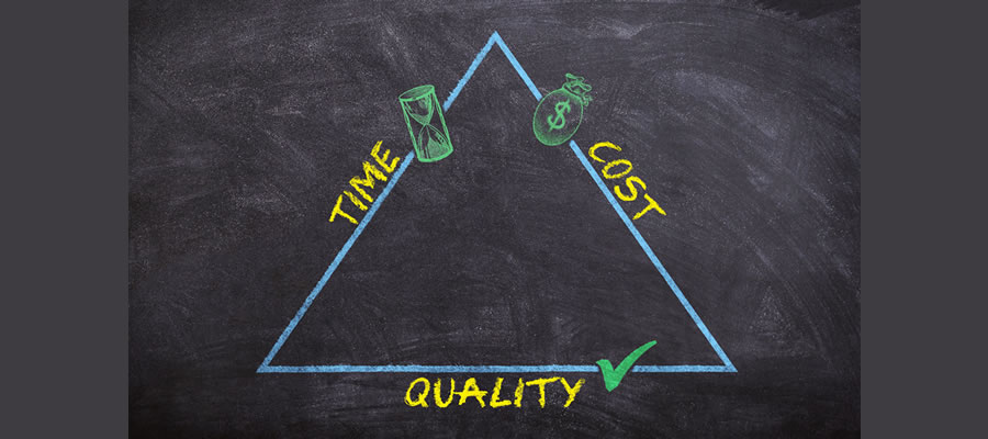 time cost quality triangle