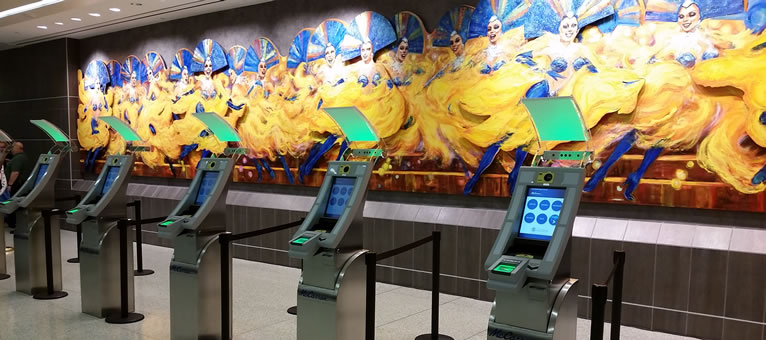 El quiosco APC de próxima generación de SITA les ofrece a los pasajeros internacionales de McCarran un rápido autoservicio en la frontera