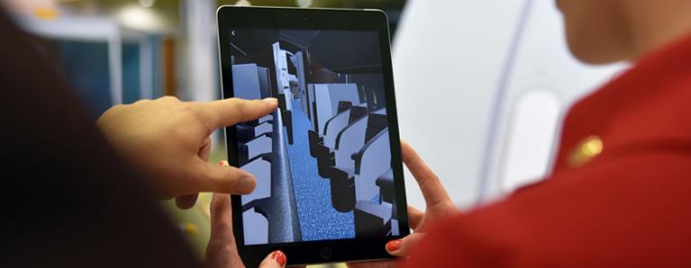 Virgin Atlantic explora una aplicación de realidad aumentada para la capacitación de los tripulantes de la cabina