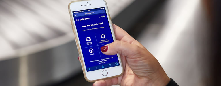 SITA helps Lufthansa Group deliver contactless, mobile way to report and track delayed baggage