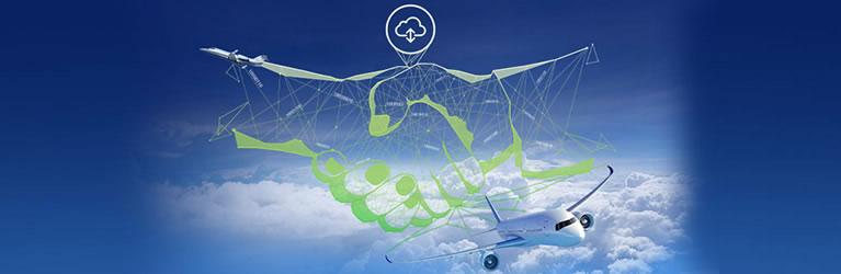 aircraft cloud data visual