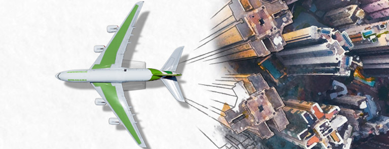 aircraft city illustration