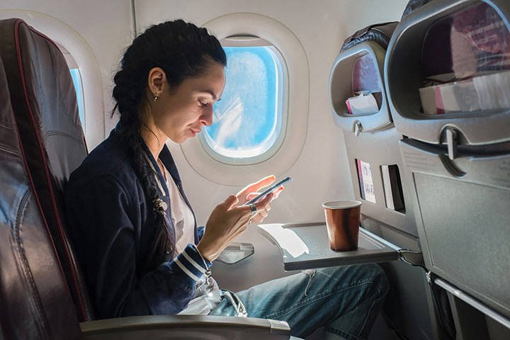 Making passengers' smart devices their inflight control center